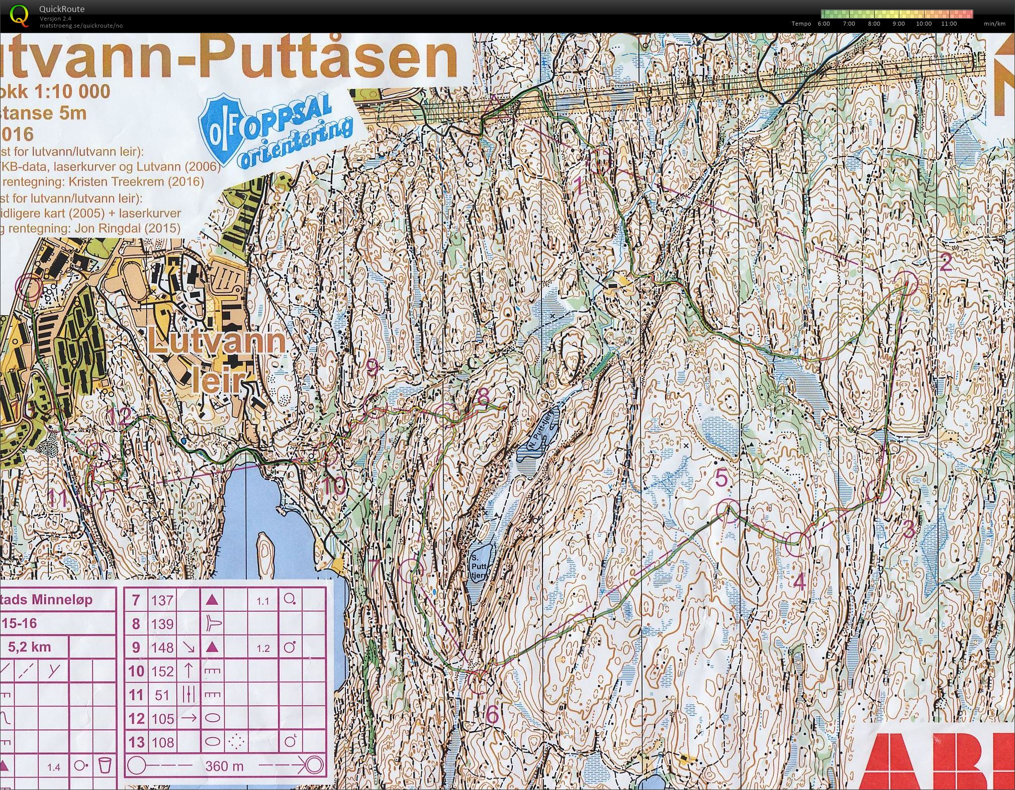 lutvann leir kart Sander Arntzen sitt digitale veivalgsarkiv :: Knut Valstads  lutvann leir kart