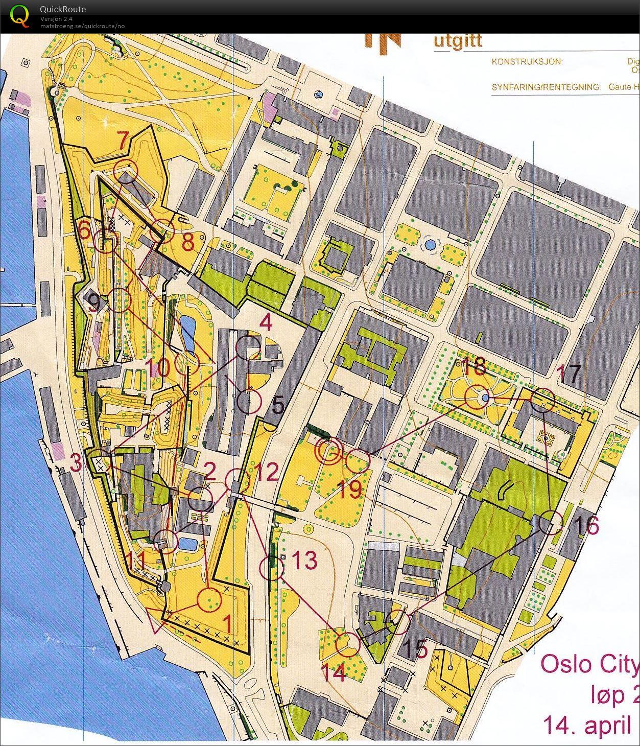 kart akershus festning OCC 2 Akershus Festning H16   April 14th 2015   Orienteering Map  kart akershus festning